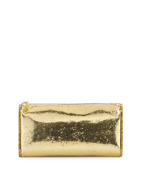 Edie Parker Lara Jumbo Metallic Clutch Bag, Gold