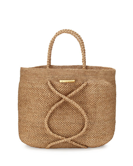 Image 1 of 1: X Straw Beach Bag, Natural