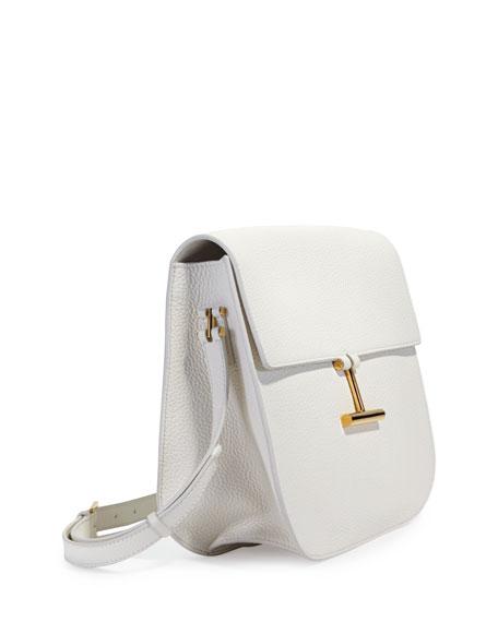 Tara Large Leather Crossbody Saddle Bag