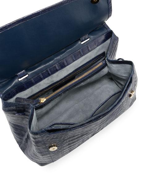 New Top-Handle Crocodile Satchel Bag