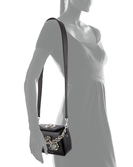 Micro Box Bag Leather Shoulder Bag, Black