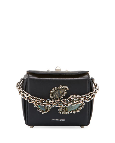 Alexander McQueen Micro Box Bag Leather Shoulder Bag,