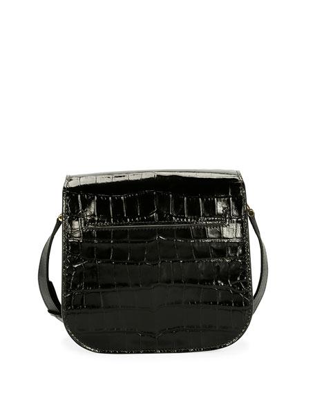 Tara Small T Clasp Alligator Shoulder Bag