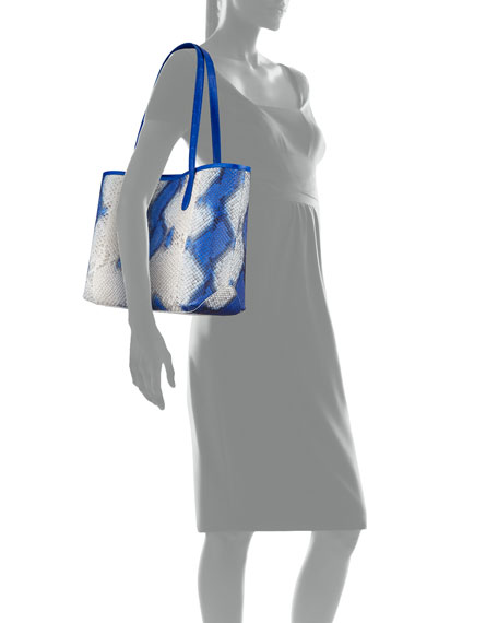 Erica Small New Pyrhon Leaf Tote Bag