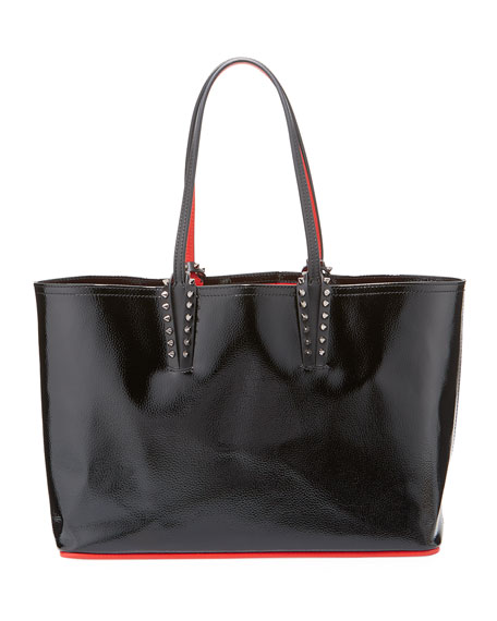 e5600155306 Cabata Small Spiked Patent Tote Bag