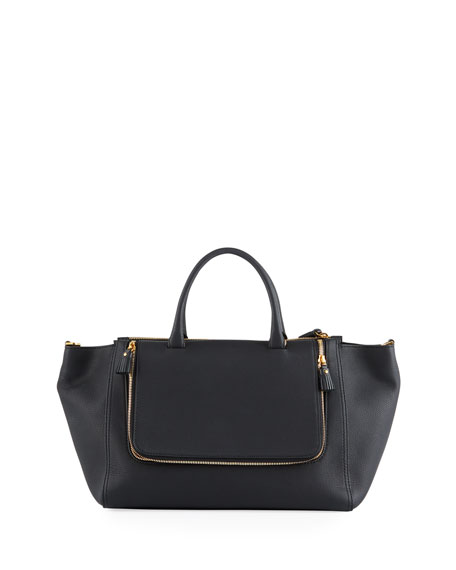 Image 1 of 1: Vere Mini Grained Leather Tote Bag