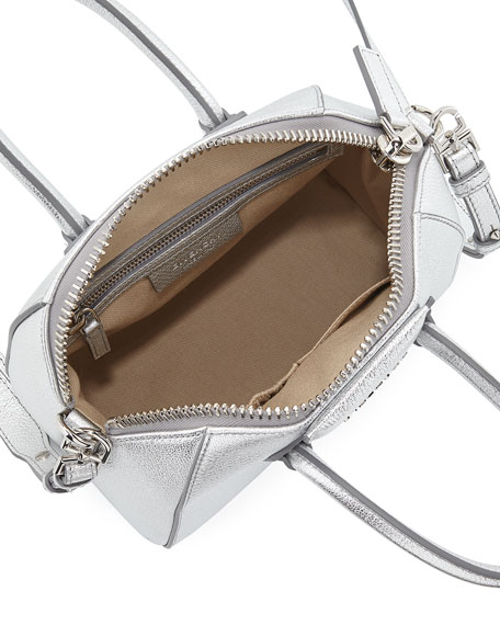 Antigona Metallic Mini Satchel Bag