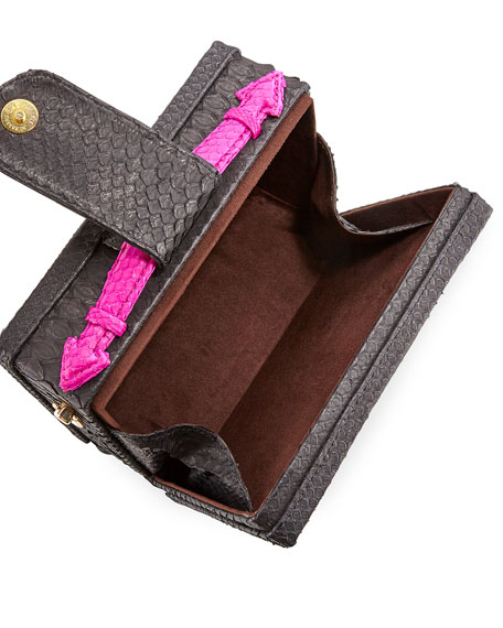 Mandolin Python Box Shoulder Bag