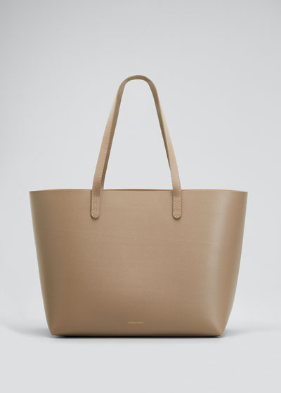 Large Saffiano Leather Tote Bag