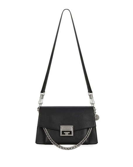 7794fe59db Givenchy GV3 Small Pebbled Leather Crossbody Bag