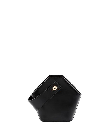 Mini Johnny Leather Hexagon Shoulder Bag