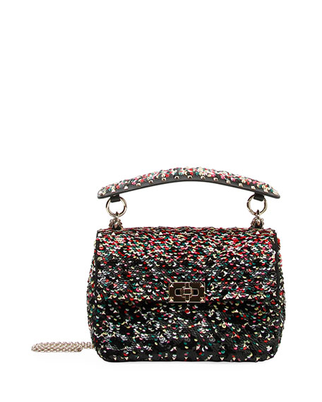 Spike.It Medium Sequined Shoulder Bag