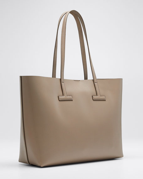 5f1f5ecd34 TOM FORD Saffiano Leather Small T Tote Bag