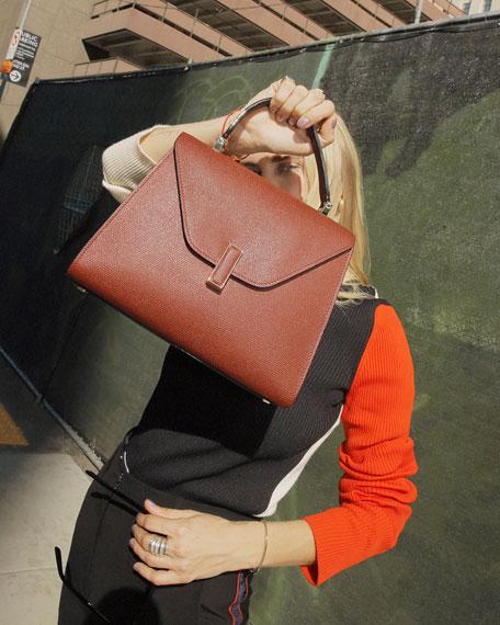 Iside Medium Leather Top-Handle Bag
