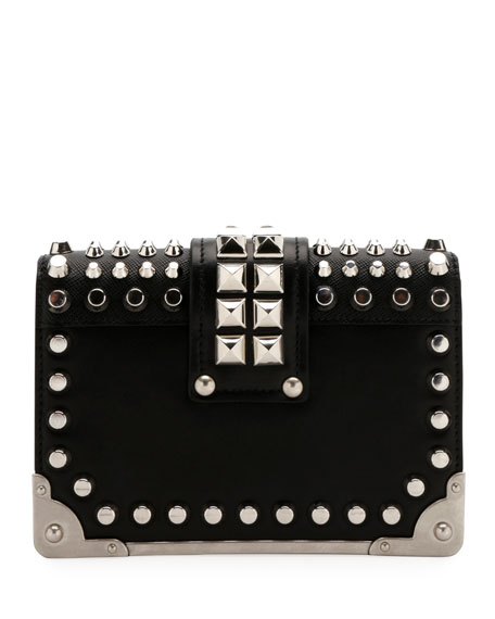 Small Studded Cahier Crossbody Bag