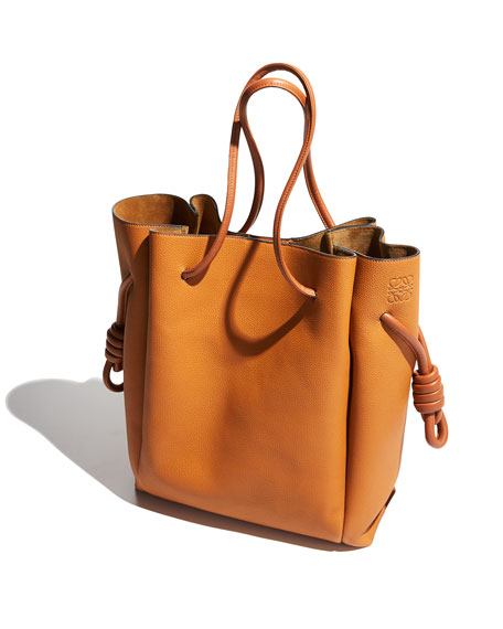 Flamenco Knot Leather Tote Bag