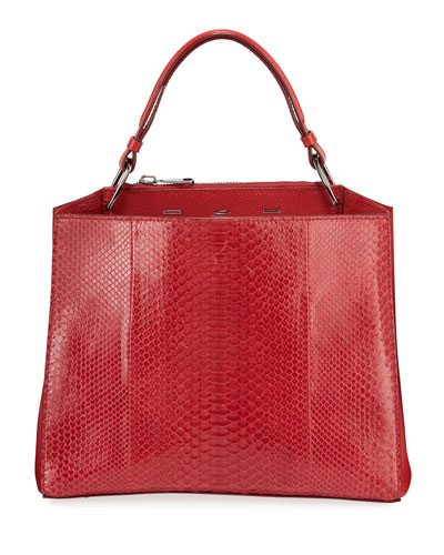 Seven 34 Python Scarlet Clutch Bag