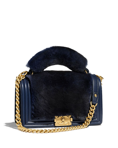 BOY CHANEL FLAP BAG WITH HANDLE