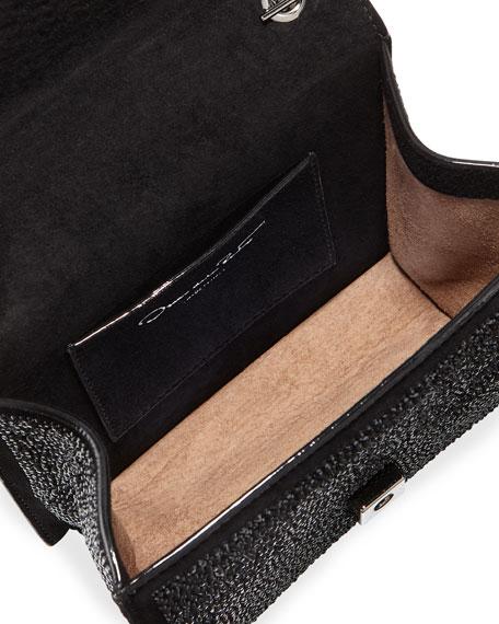 Mini TRO Crystal Suede Crossbody Bag
