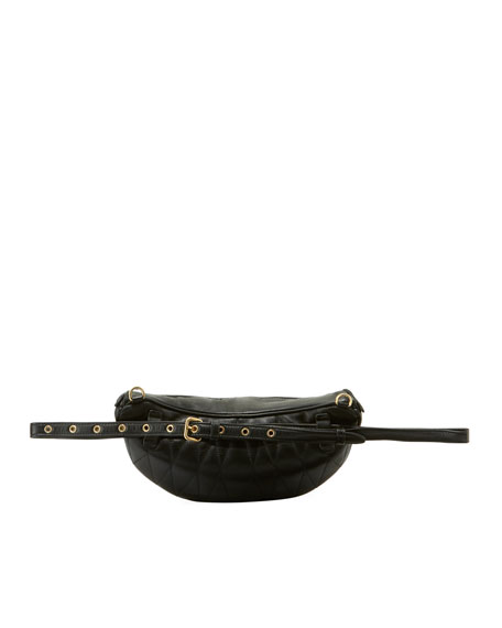 Matelassé Leather Belt Bag