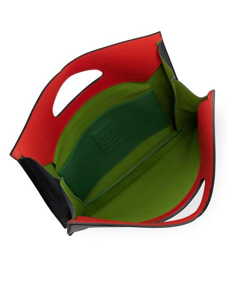 Bustina Leather V-Top Clutch Bag