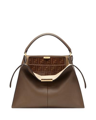 Peekaboo X-Lite Soft Calf Satchel Bag with FF Interior