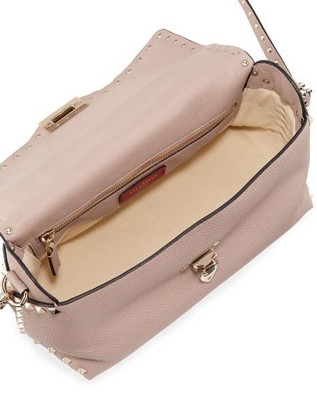 Rockstud Vitello Stampa Shoulder Bag