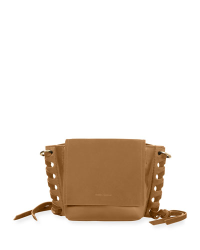 Kleny Suede and Leather Crossbody Bag