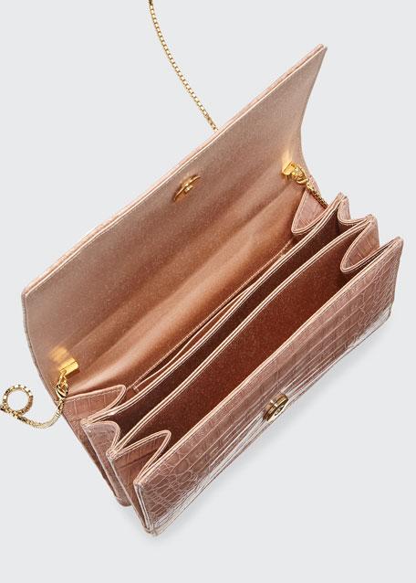 Linda Evening Crocodile Clutch Bag