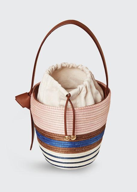 Multi-Stripe Half Breton Bucket Bag