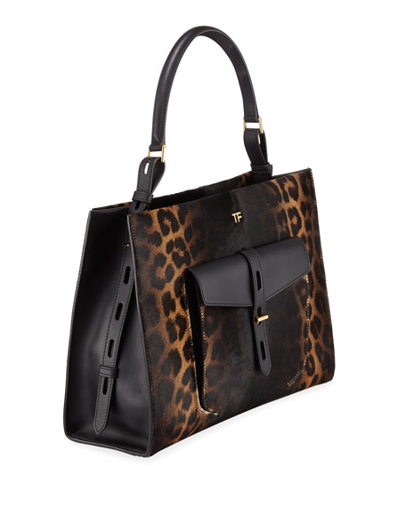 Rialto Medium Leopard Top-Handle Bag