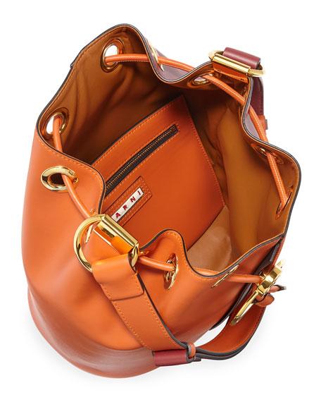 Two-Tone Earring Bucket Bag