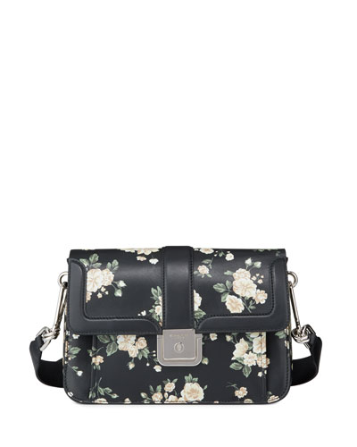 French Floral-Printed Crossbody Bag