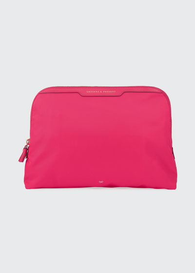 Lotions & Potions Cosmetics Bag, Hot Pink