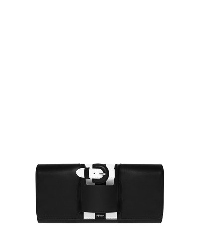 La Boucle Calfskin Clutch Bag