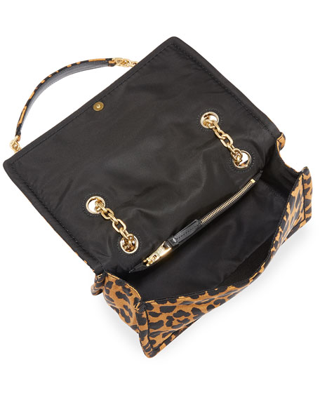 Leopard-Print Nylon Shoulder Bag