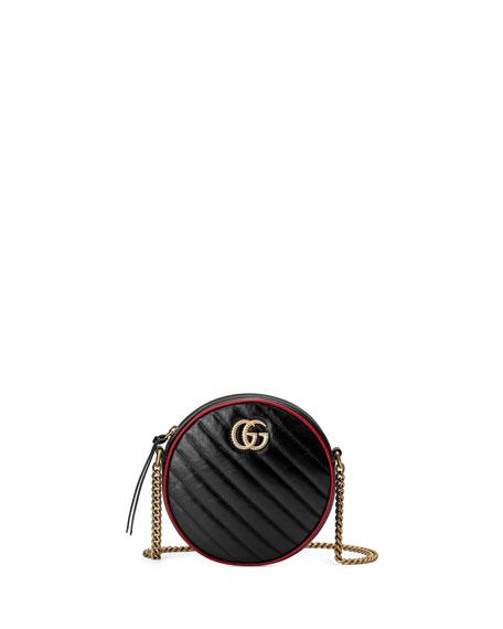 GG Marmont Mini Round Crossbody Bag