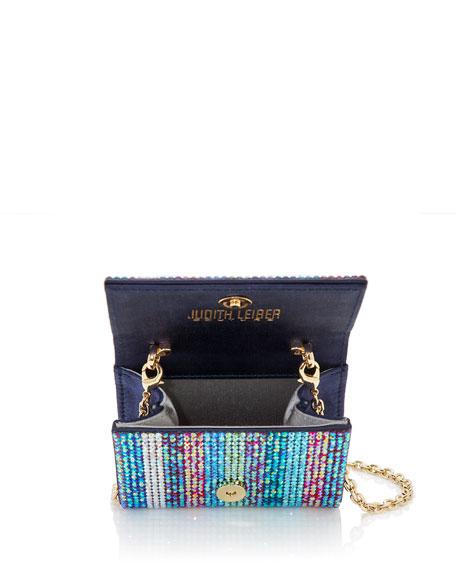 Fizzy Fullbead Multicolored Crystal Clutch Bag