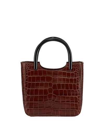 Eric Croc-Embossed Leather Tote Bag