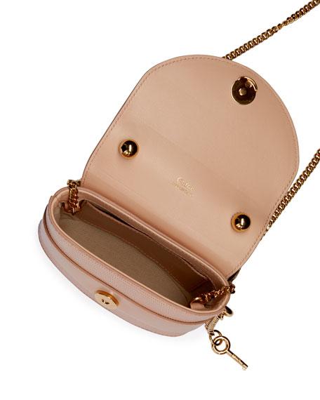 Aby Lock Lizard-Embossed Shoulder Bag