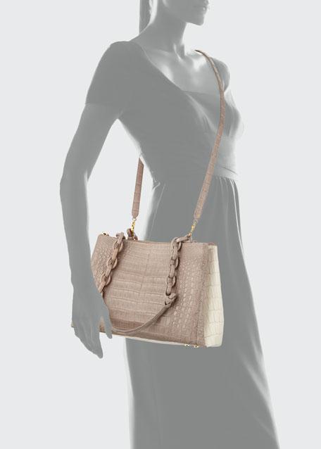 Medium Crocodile Shoulder Bag
