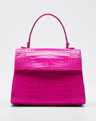 Lexi Crocodile Top Handle Bag