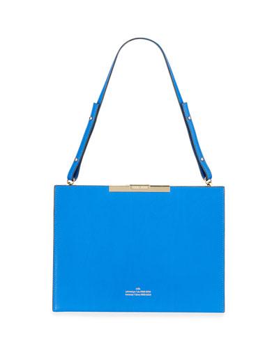 File C Leather Box Shoulder Bag