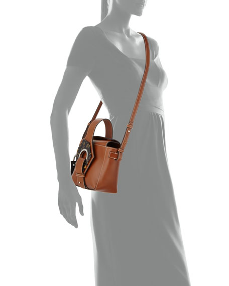 Leather Square Bucket Bag