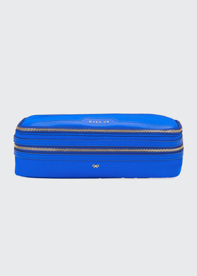 Make-Up Cosmetics Bag, Electric Blue