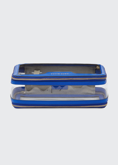 Inflight See-Through Cosmetics Bag  Electric Blue