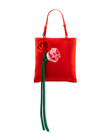 Long Stem Roses Satin Tote Bag
