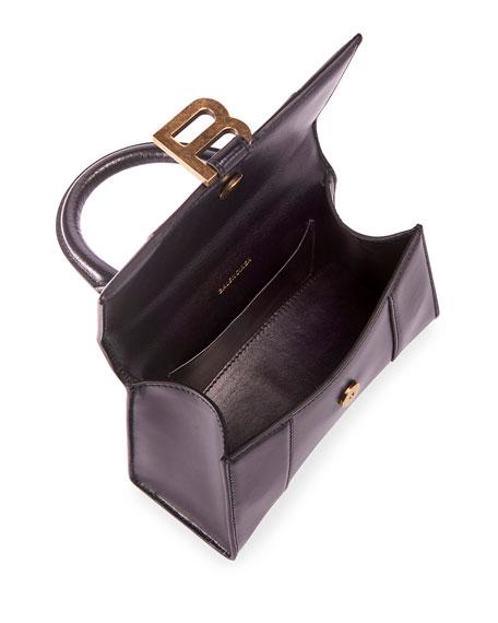 Hour XS Shiny Box Calf Top-Handle Bag