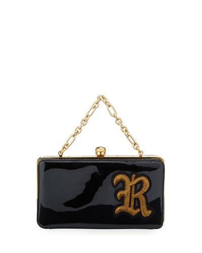 Patent R Framed Clutch Bag