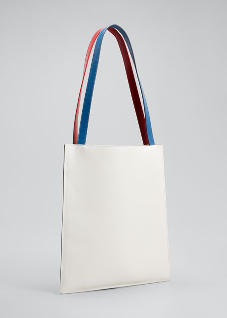 Flat Tote Bag in Shiny Calfskin